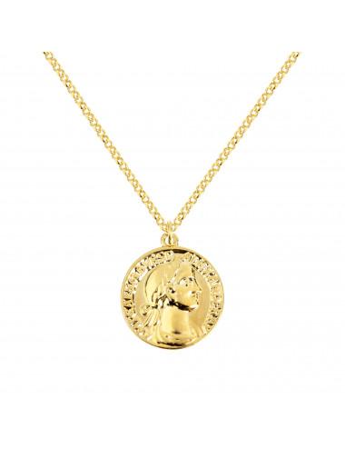 Collar Medallón Oro