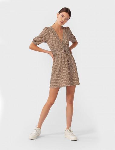 Vestido corto goma cintura